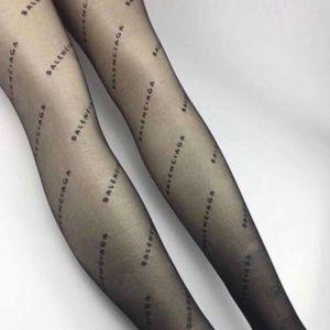 Balenciaga logo tights black one size